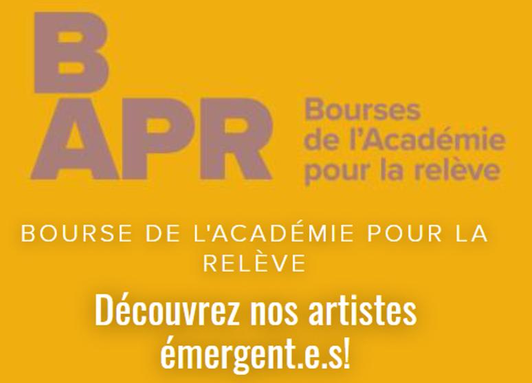 Bourses de l'Académie pour la relève RENCONTREZ LES RÉCIPIENDAIRES DE L'ÉDITION 2021