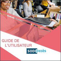 Bouton pour accéder au Guide de l'utilisateur SOD@ccès