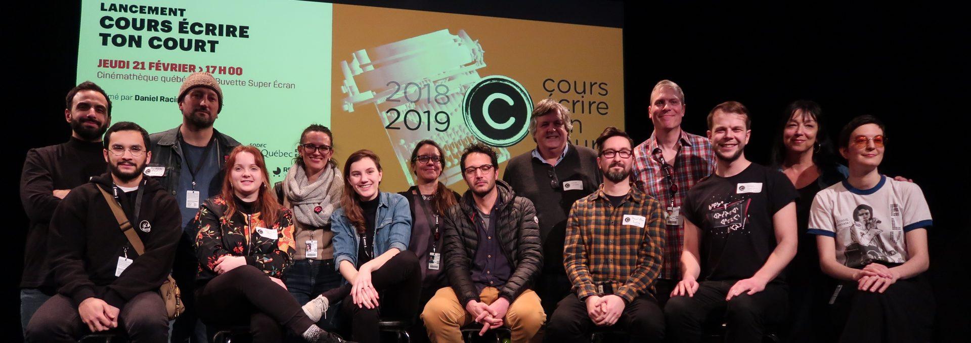 Finalistes accompagnés de leur mentor lors de l'édition 2018-2019
