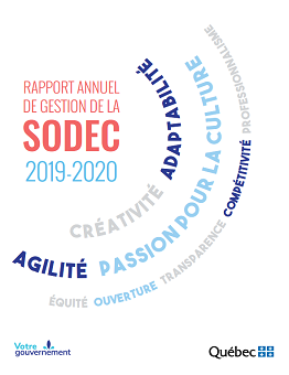 Image menant vers le rapport annuel de gestion 2019-2020 de la SODEC