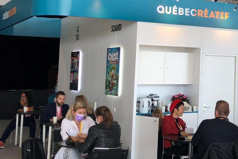 Pavillon Québec créatif au MIPCOM 2021