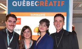 Photo d'invités du pavillon Québec créatif au MIPTV 2018