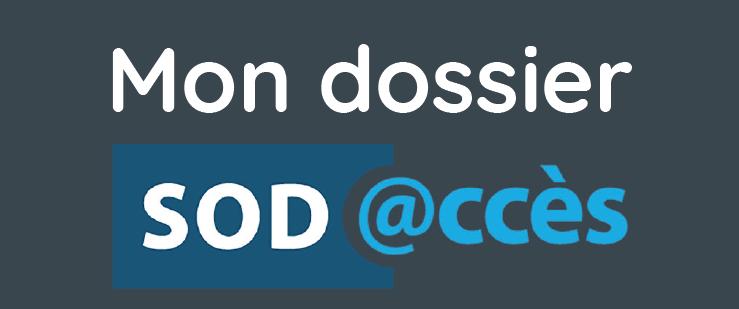 Bouton permettant d'accéder au portail SOD@ccès