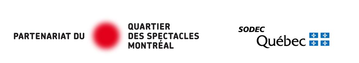 Logos Partenariat du Quartier des spectacles de Montréal et SODEC