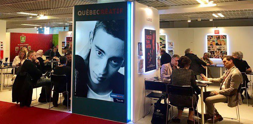 Photo du pavillon Québec créatif au MIPTV 2019