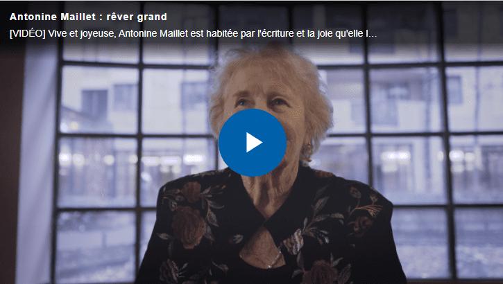 Image menant vers la vidéo profil d'Antonine Maillet