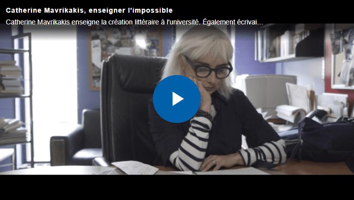Image menant vers la vidéo profil de Catherine Mavrikakis
